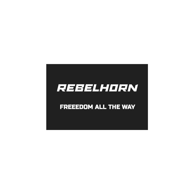 ODZNAKA NA RZEP REBELHORN FREEDOM ALL THE WAY BLACK 50X80MM