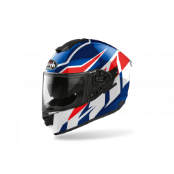 KASK AIROH ST501 FROST BLUE/RED GLOSS