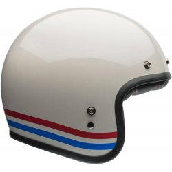 KASK BELL CUSTOM 500 DLX STRIPES PEARL WHITE