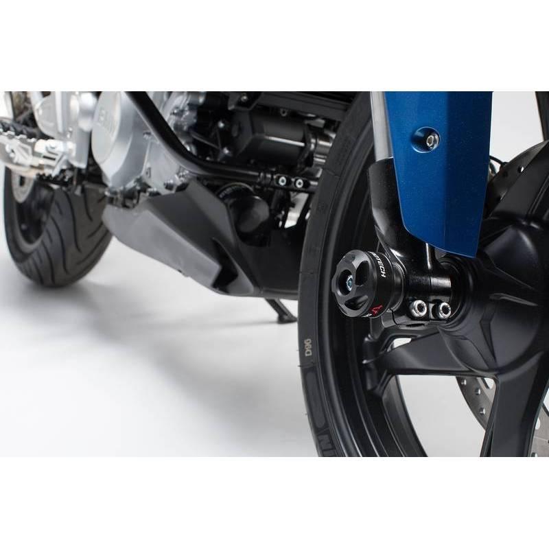 SLIDERY PRZEDNIEGO ZAWIESZENIA BMW G 310 R (16-) BLACK SW-MOTECH