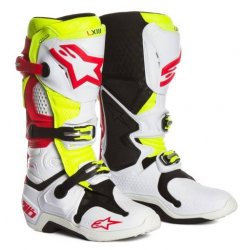 buty Alpinestars TECH10 MX `8 wht/red/fy kolor...