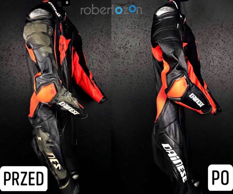 Odzież przed i po renowacji przez RoberOzon