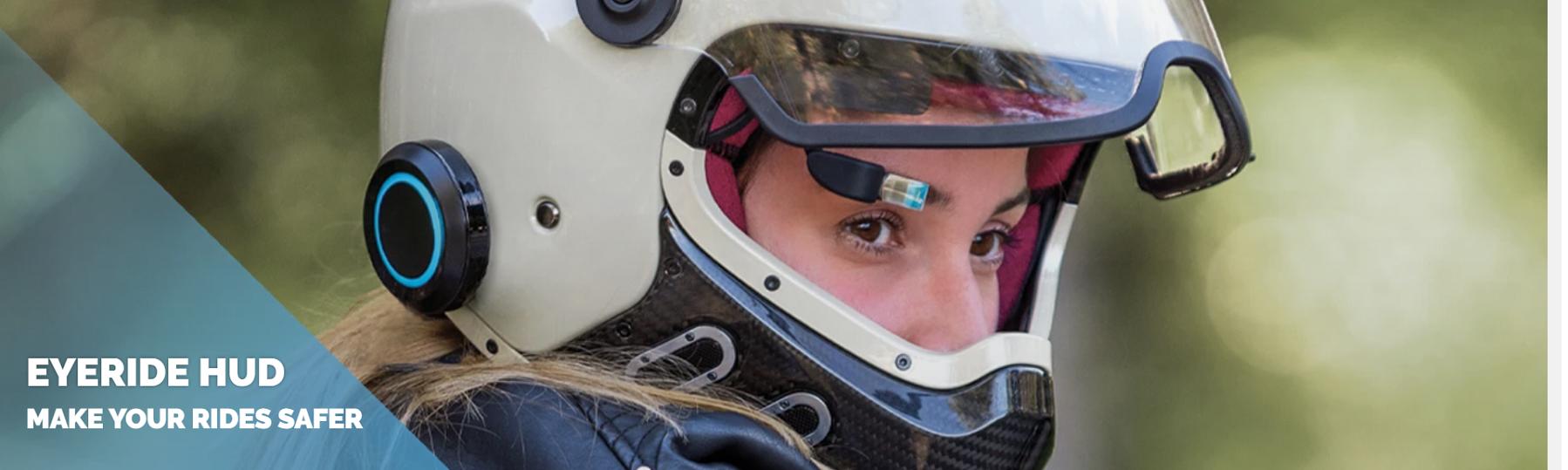 Interkom z zintegrowanym wyświetlaczem headup dla motocyklisty