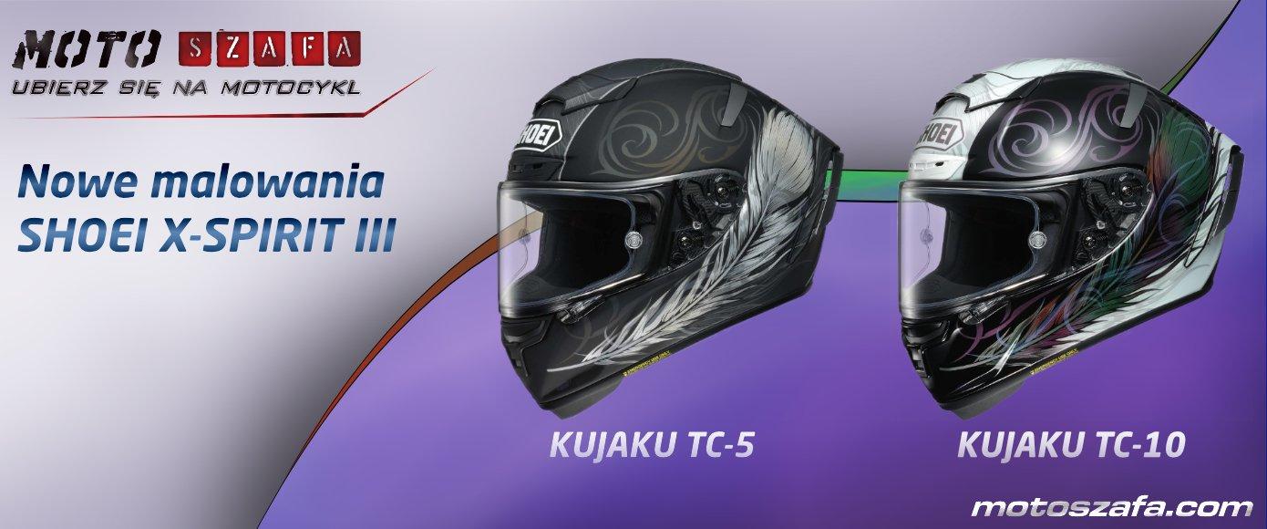 Nowe malowanie KUJAKU pojawiło się w szeregach kasków Shoei X-SPIRIT III.