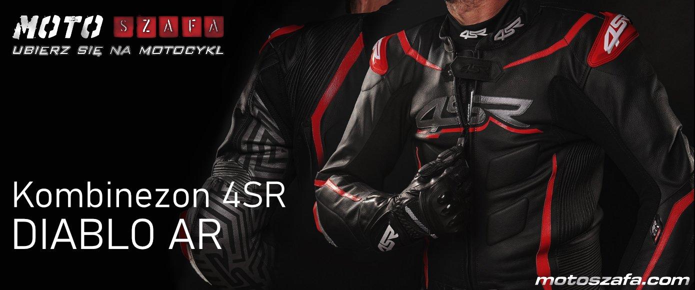 Nowy kombinezon 4SR DIABLO AR. Przystosowany pod poduszki powietrzne dla motocyklistów.